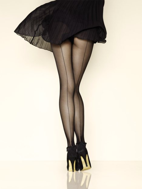 These are the nylons I'm talking of. Of course we don't wear them like this... But they fit with many different styles. Source.